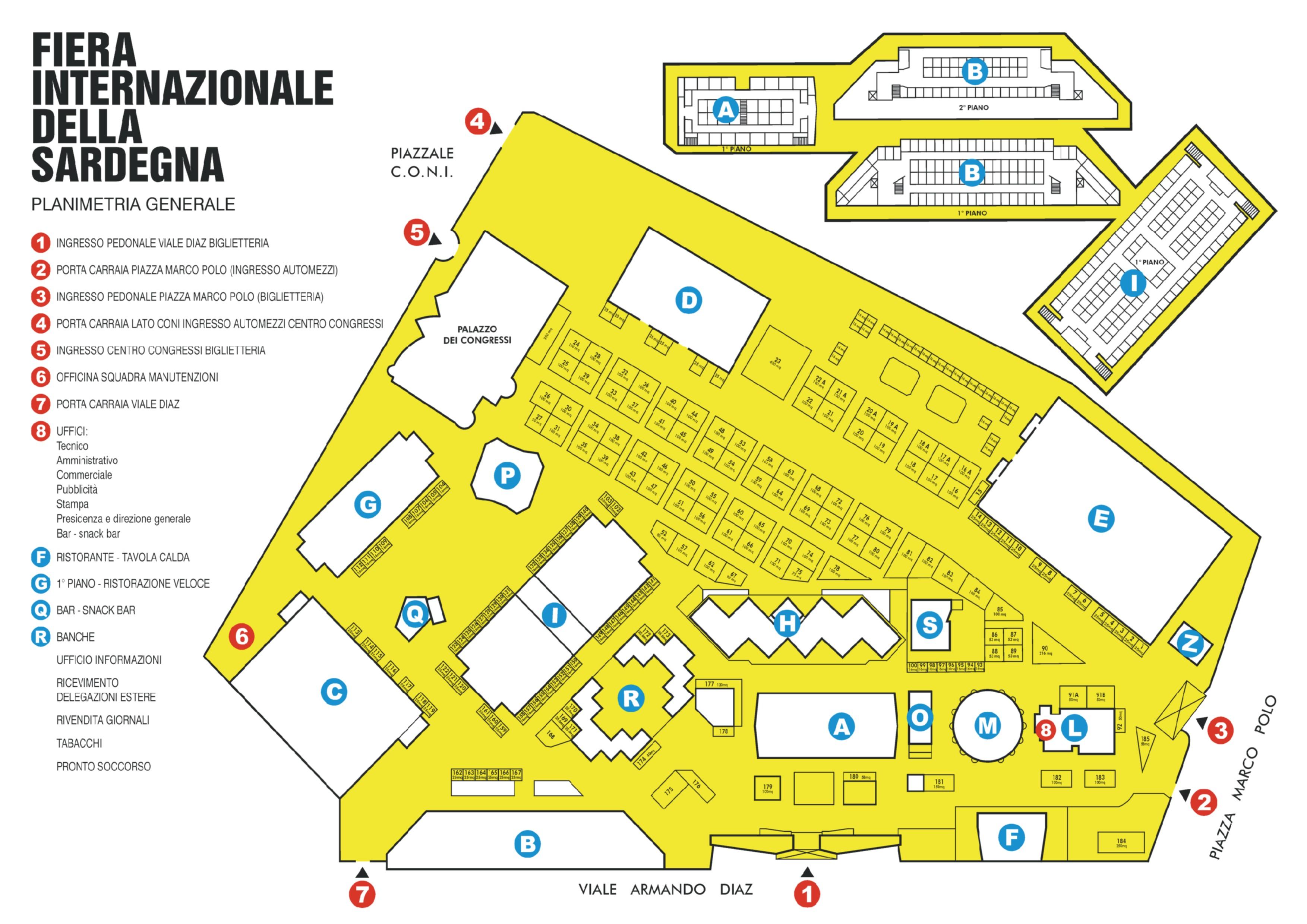 Mappa Sardegna Zona Cagliari.Mappe Fiera Della Sardegna